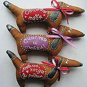 Для домашних животных, ручной работы. Ярмарка Мастеров - ручная работа Таксы-Таксы (магнитики). Handmade.