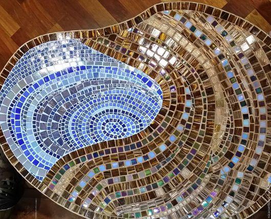 """Мебель ручной работы. Ярмарка Мастеров - ручная работа. Купить Мозаика, Столик придиваный """"Омут"""". Handmade. Комбинированный, столик кофейный"""
