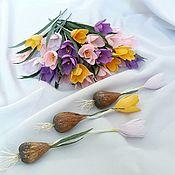 Цветы и флористика handmade. Livemaster - original item Spring crocuses. Handmade.