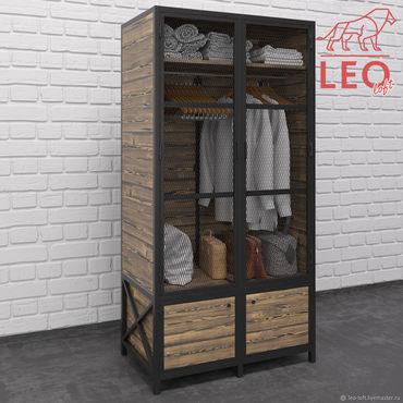 Для дома и интерьера ручной работы. Ярмарка Мастеров - ручная работа Шкаф металлический лофт LF-075. Handmade.