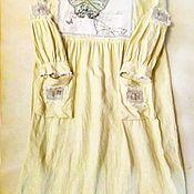 """Одежда ручной работы. Ярмарка Мастеров - ручная работа Платье изо льна """" Лайм с бабочками"""". Handmade."""