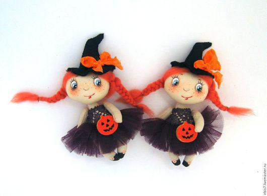 """Броши ручной работы. Ярмарка Мастеров - ручная работа. Купить Брошки """"Хэллоуин"""". Handmade. Комбинированный, ведьма, ведьмочка, хелоуин, тыква"""