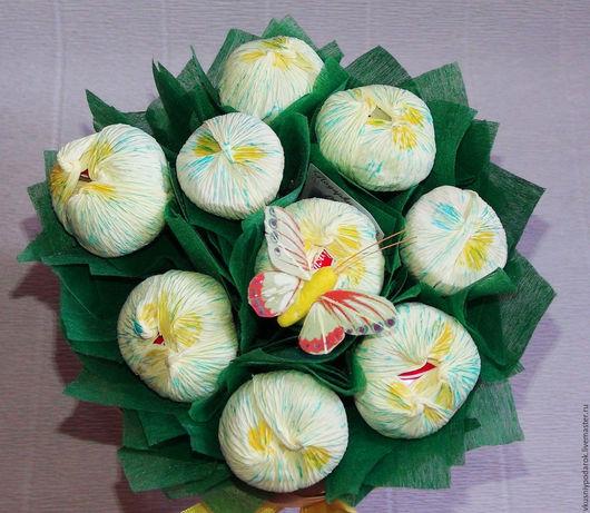"""Букеты ручной работы. Ярмарка Мастеров - ручная работа. Купить Букет из конфет """"Лимонные крокусы"""". Handmade. Желтый, корпоративные подарки"""