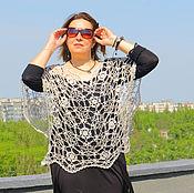 Одежда ручной работы. Ярмарка Мастеров - ручная работа Кружевная блуза свободного размера.. Handmade.