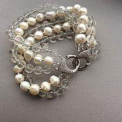 Украшения handmade. Livemaster - original item Bracelet CHARM rhinestone and Baroque pearl. Handmade.