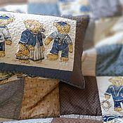 """Одеяла ручной работы. Ярмарка Мастеров - ручная работа Одеяло лоскутное, комплект """"Морские приключения """". Handmade."""