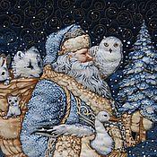 """Подарки к праздникам ручной работы. Ярмарка Мастеров - ручная работа Лоскутное одеяло """"Новогодняя сказка"""". Handmade."""