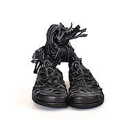Обувь ручной работы. Ярмарка Мастеров - ручная работа Перфорированные летние сапоги-сандалии. Handmade.