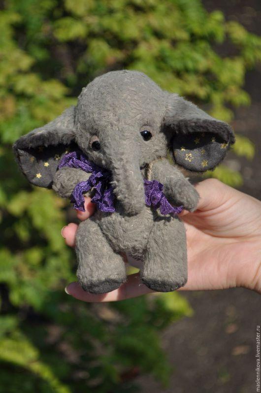 Мишки Тедди ручной работы. Ярмарка Мастеров - ручная работа. Купить Слоник (12,5см). Handmade. Серый, слоник тедди