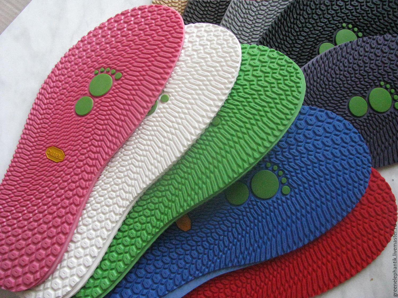 Подошва Biss для тапочек (след)  Черный,серый,бежевый,коричневый - основные цвета. Красный,синий, зеленый, розовый, фиолетовый, белый, табак,  хаки в ассортименте