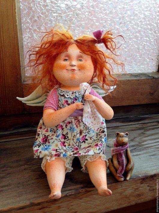 Коллекционные куклы ручной работы. Ярмарка Мастеров - ручная работа. Купить Маняша. Handmade. Комбинированный, рыжая девочка, хлопок 100%