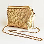 Сумки и аксессуары handmade. Livemaster - original item Diamond clutch bag, gold purse, gold clutch (134). Handmade.
