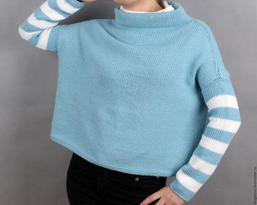 """Кофты и свитера ручной работы. Ярмарка Мастеров - ручная работа. Купить Вязаный свитер oversize/оверсайз из итальянской пряжи """" WINTER"""". Handmade."""