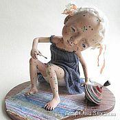 Куклы и игрушки ручной работы. Ярмарка Мастеров - ручная работа девочка Ветрянка. Handmade.
