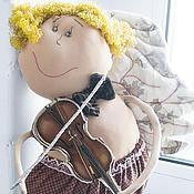 Куклы и игрушки ручной работы. Ярмарка Мастеров - ручная работа я на скрипочке играю ти-ли-ли ангел ручная работа. Handmade.