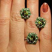 Украшения handmade. Livemaster - original item Earrings, Peridot ring (Olivine, Chrysolite). Handmade.