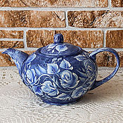 Посуда handmade. Livemaster - original item Teapot painted