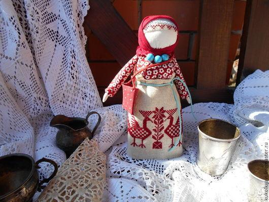 """Народные куклы ручной работы. Ярмарка Мастеров - ручная работа. Купить """"Успешница"""" Кукла-оберег.. Handmade. Бордовый, кукла в подарок"""