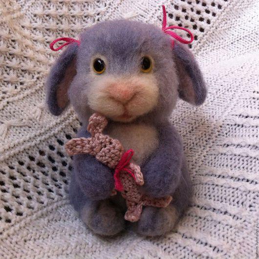 Игрушки животные, ручной работы. Ярмарка Мастеров - ручная работа. Купить Крольчонок Джуди. Handmade. Комбинированный, валяный кролик, крольчонок