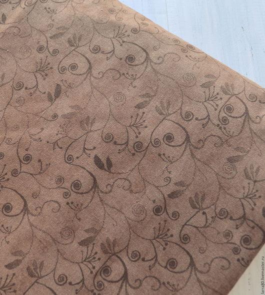 Шитье ручной работы. Ярмарка Мастеров - ручная работа. Купить Хлопок Brown Flourish Blender, США. Handmade. Ткань для кукол