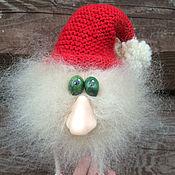Куклы и игрушки ручной работы. Ярмарка Мастеров - ручная работа Бежевый пушистый мохеровый гном. Handmade.