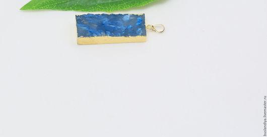 Для украшений ручной работы. Ярмарка Мастеров - ручная работа. Купить Кулон дымчато-голубой матовый №2. Handmade. Друза