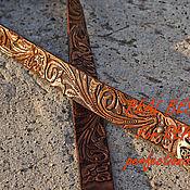 Аксессуары handmade. Livemaster - original item Leather belt for men
