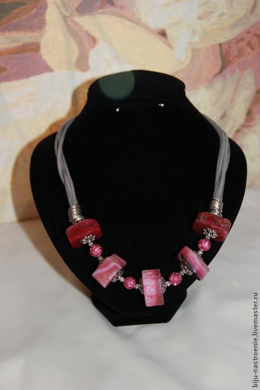 Колье, бусы ручной работы. Ярмарка Мастеров - ручная работа. Купить ожерелье Аврелия. Handmade. Розовый, крупные бусины