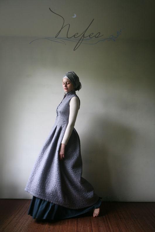 """Платья ручной работы. Ярмарка Мастеров - ручная работа. Купить Тёплое платье """"Хафиза"""". Handmade. Серый, зимнее платье"""