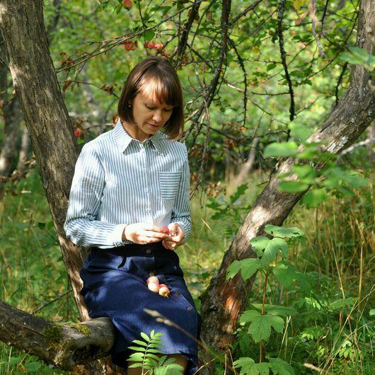 Блузки ручной работы. Ярмарка Мастеров - ручная работа. Купить Женская рубашка из хлопка. Handmade. Женская одежда, рубашка из хлопка