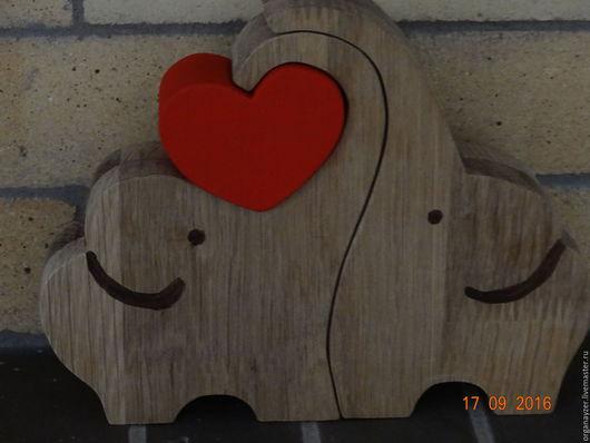 Подарки для влюбленных ручной работы. Ярмарка Мастеров - ручная работа. Купить Влюблённые слоны. Handmade. Дерево, любовь, интерьерная композиция