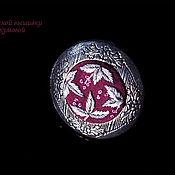 Украшения ручной работы. Ярмарка Мастеров - ручная работа Вышитое кольцо-медальон Маскот. Handmade.