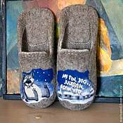 Обувь ручной работы handmade. Livemaster - original item Felted Slippers Come in, if that.... Handmade.