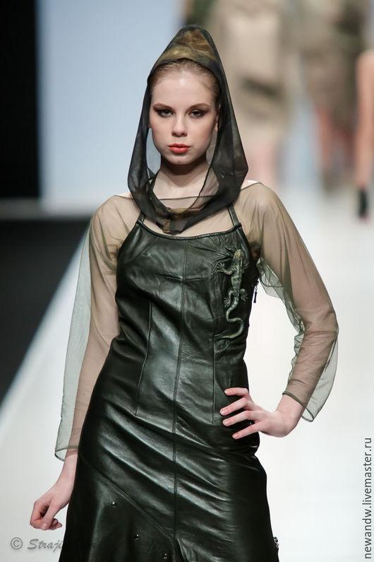 """Платья ручной работы. Ярмарка Мастеров - ручная работа. Купить 3D Платье из натуральной кожи """"Ящерка"""". Handmade. 3d"""