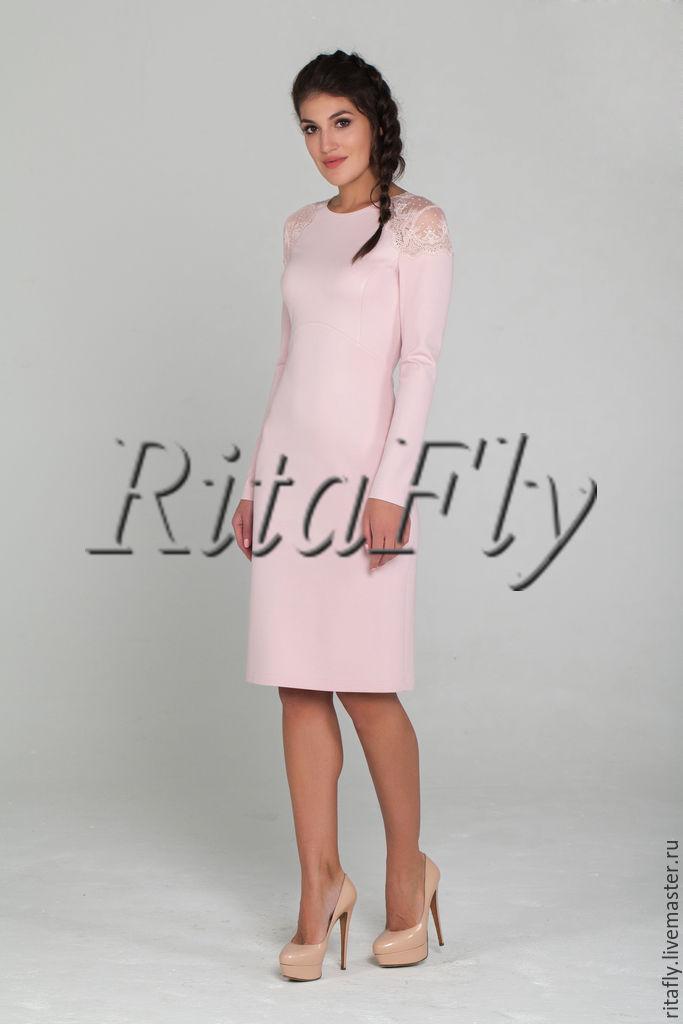 Платье футляр с кружевом 2017
