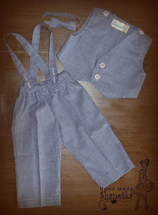 Одежда для мальчиков, ручной работы. Ярмарка Мастеров - ручная работа. Купить Костюм для мальчика: брюки на подтяжках, жилетка, бабочка. Handmade.