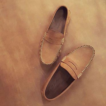 Обувь ручной работы. Ярмарка Мастеров - ручная работа Мокасины из Нубука. Handmade.