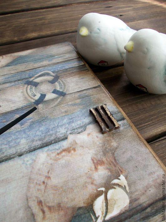 """Часы для дома ручной работы. Ярмарка Мастеров - ручная работа. Купить Часы """"...и моря шум"""". Handmade. Комбинированный"""