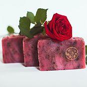Косметика ручной работы handmade. Livemaster - original item Natural soap from scratch Jam from roses handmade Pink. Handmade.