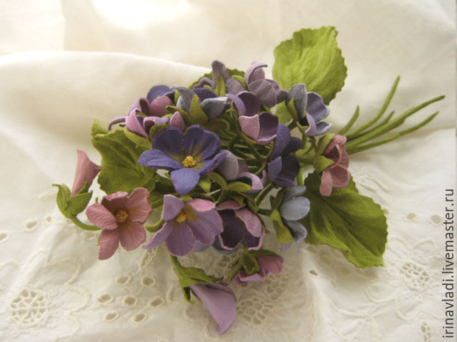 the colors of the skin . brooch pin bouquet of purple and pink ...