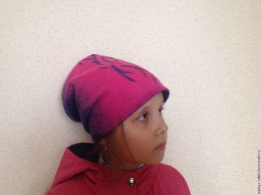 Шапки и шарфы ручной работы. Ярмарка Мастеров - ручная работа. Купить Шапочка валяная детская. Handmade. Розовый, Валяние