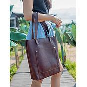 Сумки и аксессуары handmade. Livemaster - original item Exclusive handmade brown leather bag. Handmade.