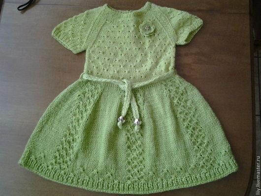 Одежда для девочек, ручной работы. Ярмарка Мастеров - ручная работа. Купить вязанное платье на девочку. Handmade. Вязание на заказ, полушерсть