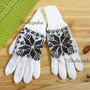 Аксессуары handmade. Livemaster - original item Downy jacquard gloves