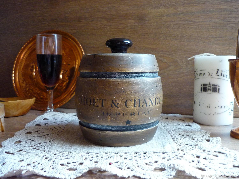 Декоративная посуда ручной работы. Ярмарка Мастеров - ручная работа. Купить Бочонок для кофе и не только Из винного подвала. Handmade.