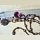 """Колье, бусы ручной работы. Сотуар из натуральных камней """"Chic"""". Nika Leskova (украшения из камней). Ярмарка Мастеров."""
