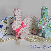 Подарки к праздникам ручной работы. Ярмарка Мастеров - ручная работа Пасхальные зайцы. Handmade.