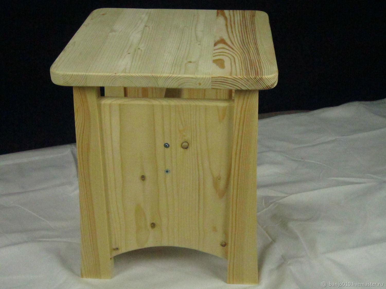 Stool pine unpainted, Chairs, Lyubertsy,  Фото №1