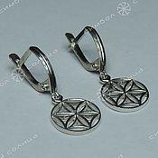 Русский стиль handmade. Livemaster - original item Thunder wheel earrings, Flower of Life. Handmade.
