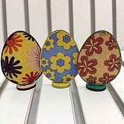 Материалы для творчества ручной работы. Ярмарка Мастеров - ручная работа Пасхальные яйца из дерева. Handmade.
